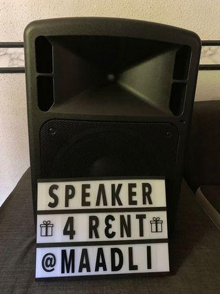 Rental Portable PA Audio (42x34x60)