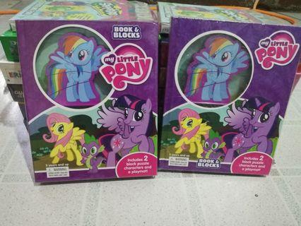 Little pony Book & blocks and Busy books