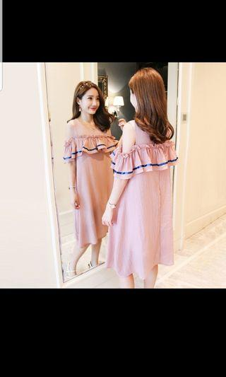 🚚 Maternity & nursing Korean style dress