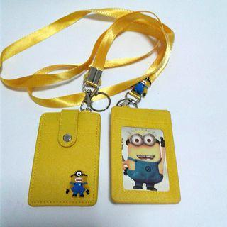 Yellow Minion Card Lanyard