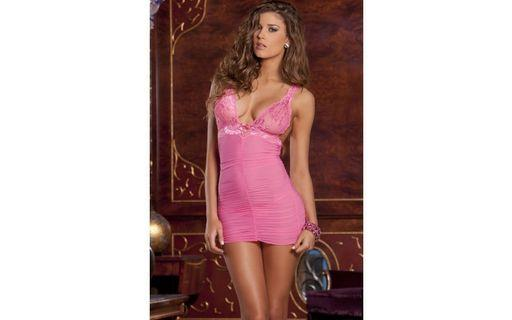 Pretty in Pink Chemise Set by Pink Lipstick S/M