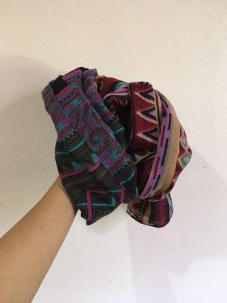 SHAWL printed wide shawl