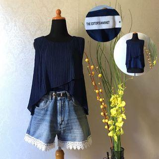 pleated top navy