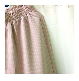 Pleated Palazzo (Baby Pink)