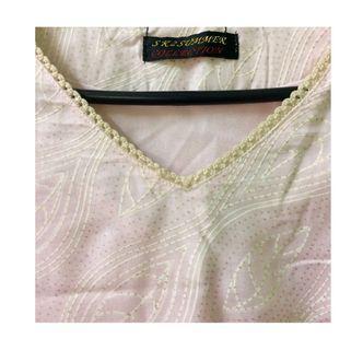 Punjabi tops with white beads detailing