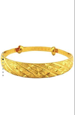 🚚 Gold bangle adjustable
