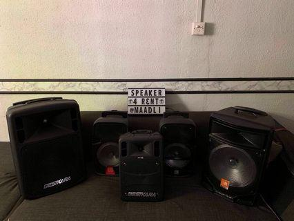 Portable Speakers for rent
