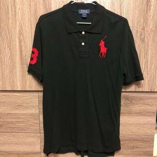 美國大牌ralph lauren POLO衫短袖 大馬標 黑色