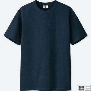 Uniqlo Navy Blue Crew Neck T Shirt