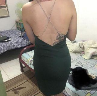 FREE SHIPPING!!! Backless Slit Cami Dress