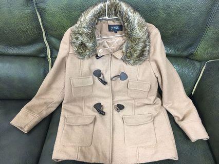 專櫃品牌young 駝色大衣