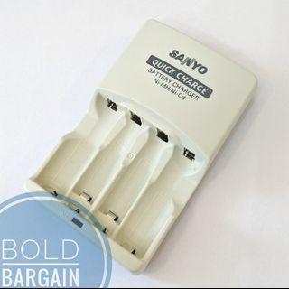 🚚 Authentic SANYO NC-MQR01 Smart Quick Battery Charger for AA and AAA Rechargeable Batteries