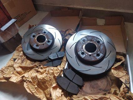 TRW XPS Slotted Brake Disc Rotor Vios J / New Alza