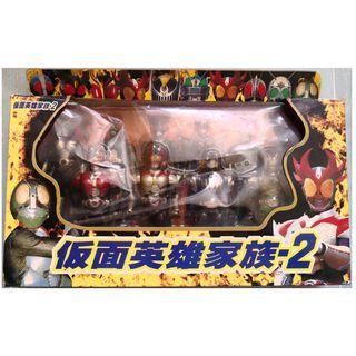 一盒10個蒙面英雄家族玩具模型