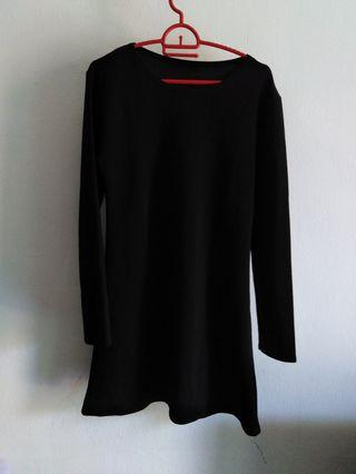 Plain blouse red grey and black