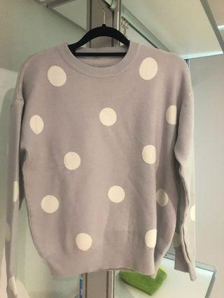 Pullover Sweater polka dots