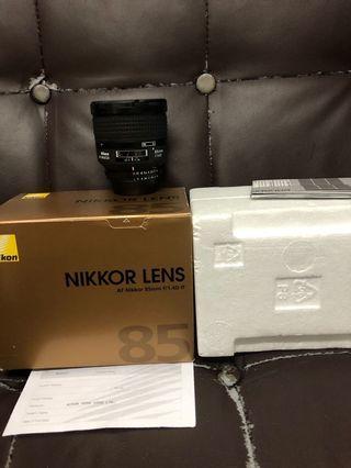 行貨全套有盒 Nikon 85mm F1.4 D