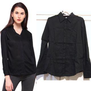 Black Collar Shirt