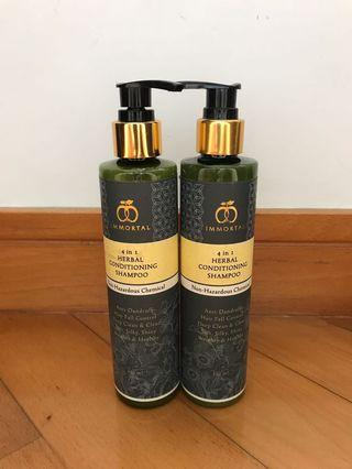 Immortal 4 in 1 Herbal conditioning shampoo
