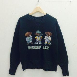 Ros Bear Dark Green Sweatshirt