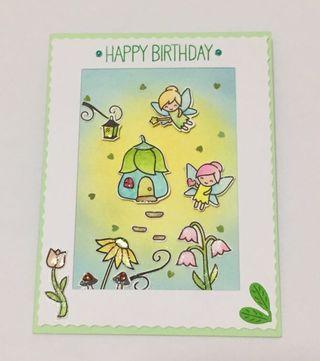 Handmade Birthday Card - side flip