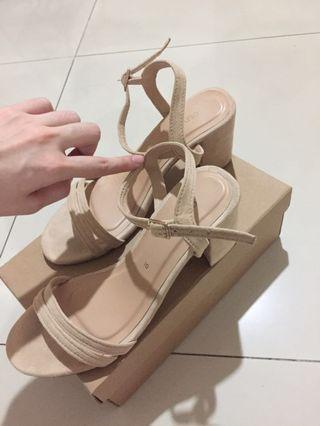 OliviaMNL Nude Block Heels (3inch Size 10) US7.5