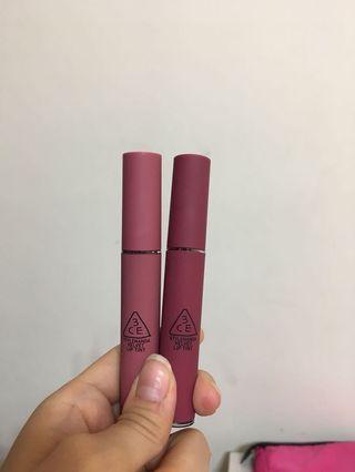🚚 3ce velvet lip tint 絲絨霧面唇釉