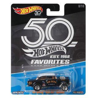 Hot Wheels 50th Anniversary Black '55 Chevy Bel Air Gasser.
