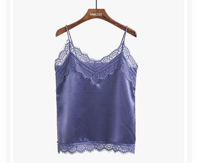BN Blue Camisole Lace Top