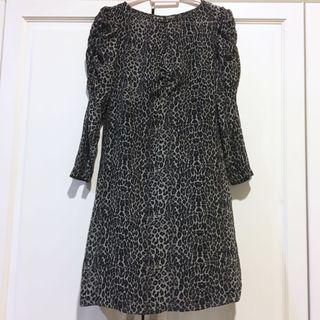 MANGO Animal Print Midi Dress