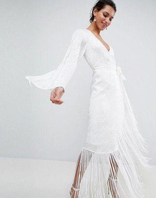 ASOS 波希米亞 輕婚紗 婚禮浴袍 Bohemia Wedding Dress Wedding Robe
