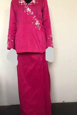 Baju Kurung Moden Customade Thai Silk