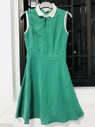 🚚 Green Skater Dress
