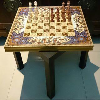 King Size Handmade Luxury Antique Chess Backgammon