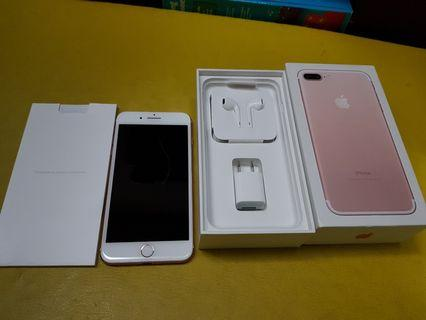 iPhone 7 Plus 128GB Rose Gold mulus 100% lengkap asli Apple
