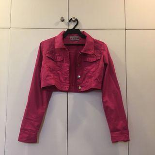 Pink Cropped Denim Jacket (fave!!!)