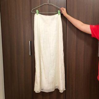 Long Skirt white maxi Arthur yen #EndgameYourExcess