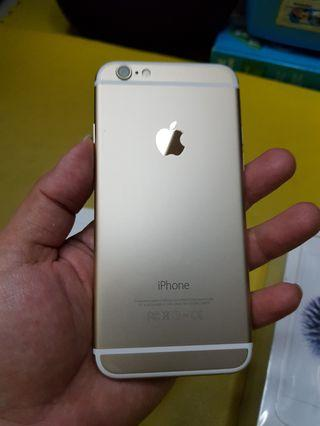 iPhone 6 32GB Gold lengkap mulus 100% barang Apple store