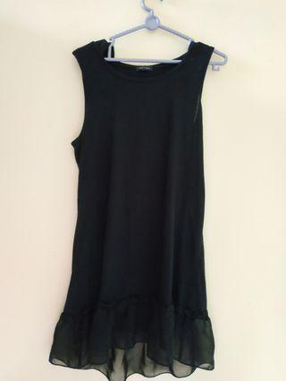 Black Dress mini with hoodie