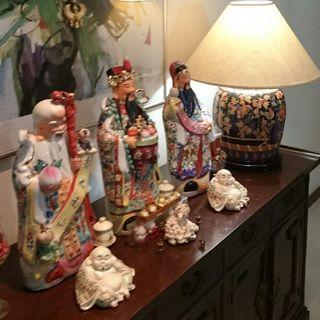 Antique Luxury Three Statues Set 52 cm