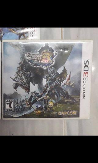3DS games monster hunter ultimate 3 USA