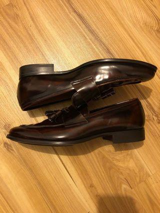 Zara Leather Loafers Made In Spain size 45