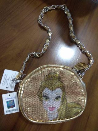 BN Disney Princess Belle sequin handbag