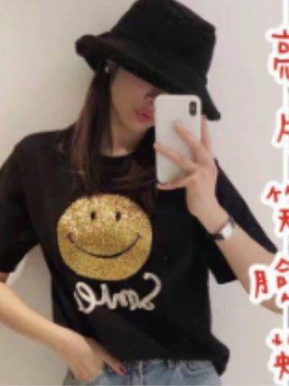 【預購】微笑棉T-黑