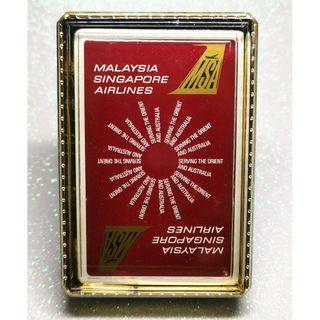 Extremly Rare Vintage Malaysia Singapore Airlines 1970s Playing Cards with box