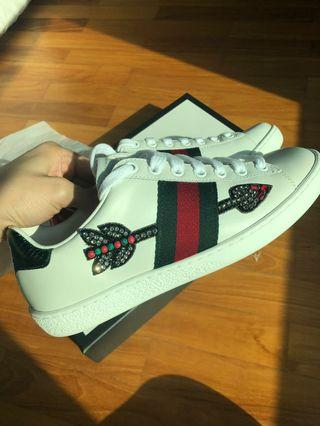 Gucci Ace Arrow Crystal Sneakers