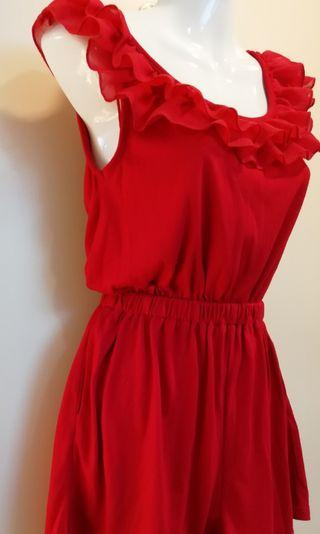 Cotton On Red Romper