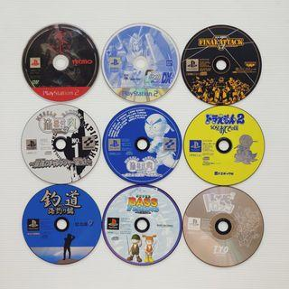 PS1 PS2 various kind games set of 9