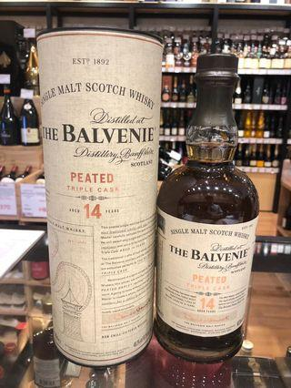 行貨 14年 Balvenie 14 Year Old Peated Triple Cask Single Malt Scotch Whisky Highland Scotland 威士忌 whiskey