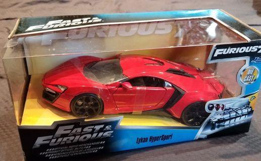 Fast & Furious Die cast 1:24 金屬車 Lyman Hyper Sport